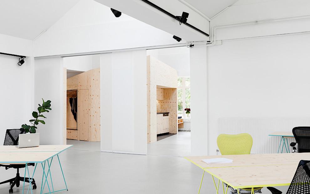 Referenz impact hub Berlin wabenpaneel-schiebetuer kollektion füllung cube matt raumteiler coworking space