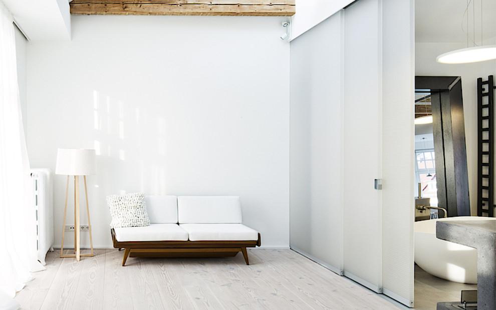 Referenz Stadtvilla kuhn wabenpaneel-schiebetuer Kollektion design cube Raumteiler Badezimmer Ankleidezimmer hell luftig